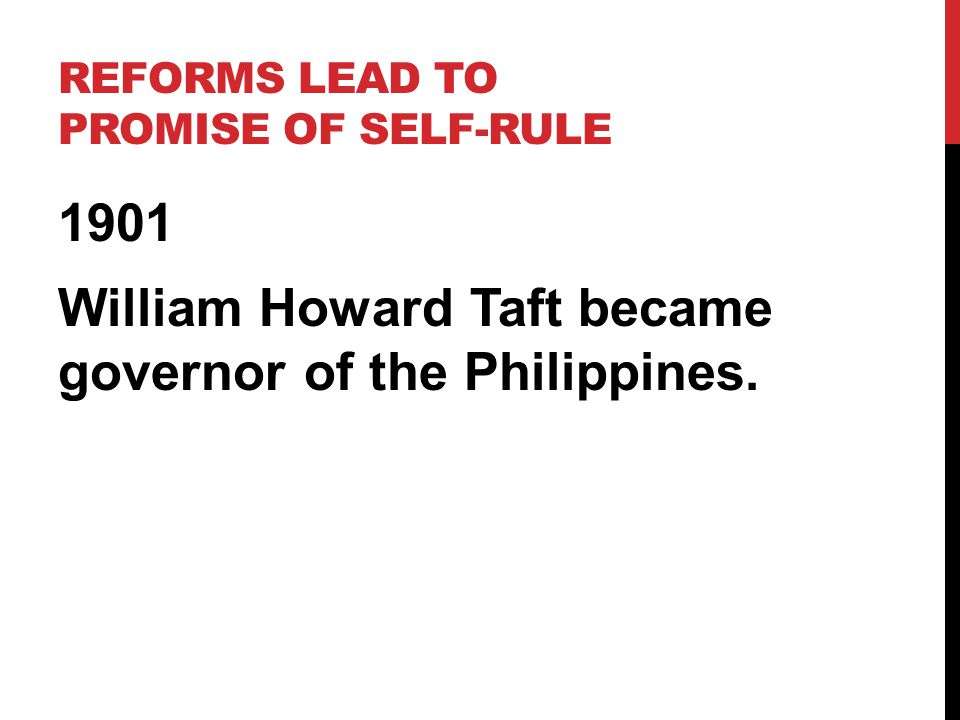 Reforms lead to Promise of Self-Rule