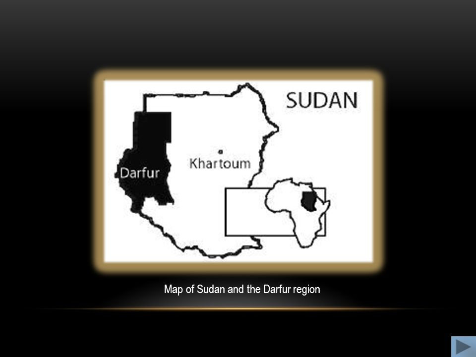 Map of Sudan and the Darfur region
