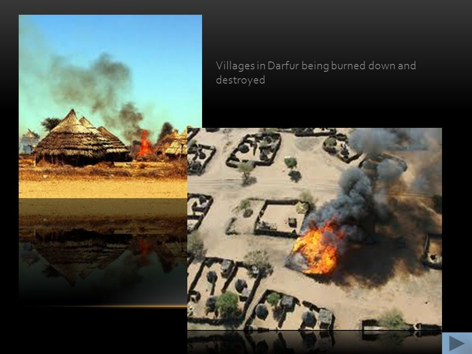 Villages in Darfur being burned down and destroyed