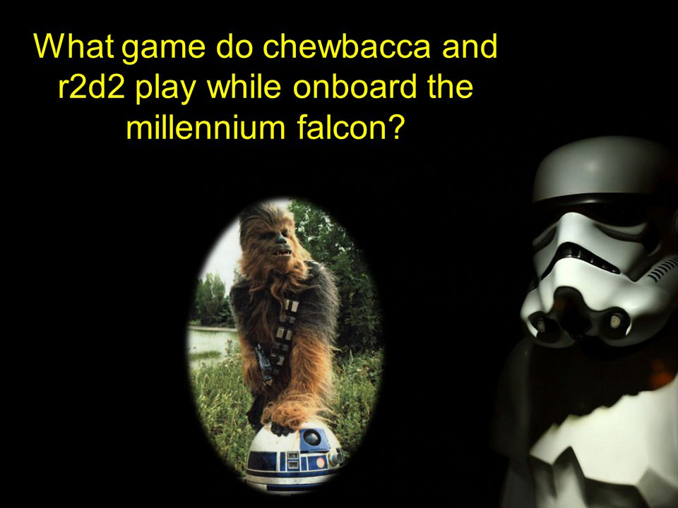 What game do chewbacca and r2d2 play while onboard the millennium falcon