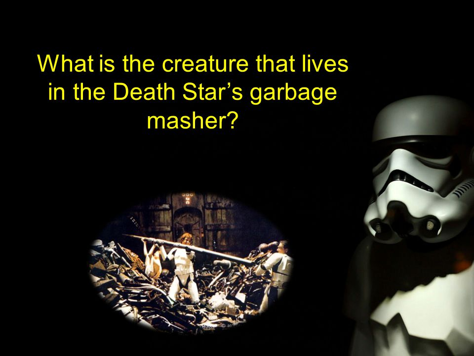 What is the creature that lives in the Death Star's garbage masher