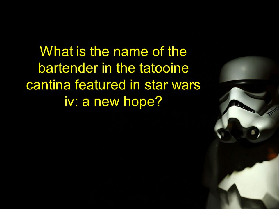 What is the name of the bartender in the tatooine cantina featured in star wars iv: a new hope