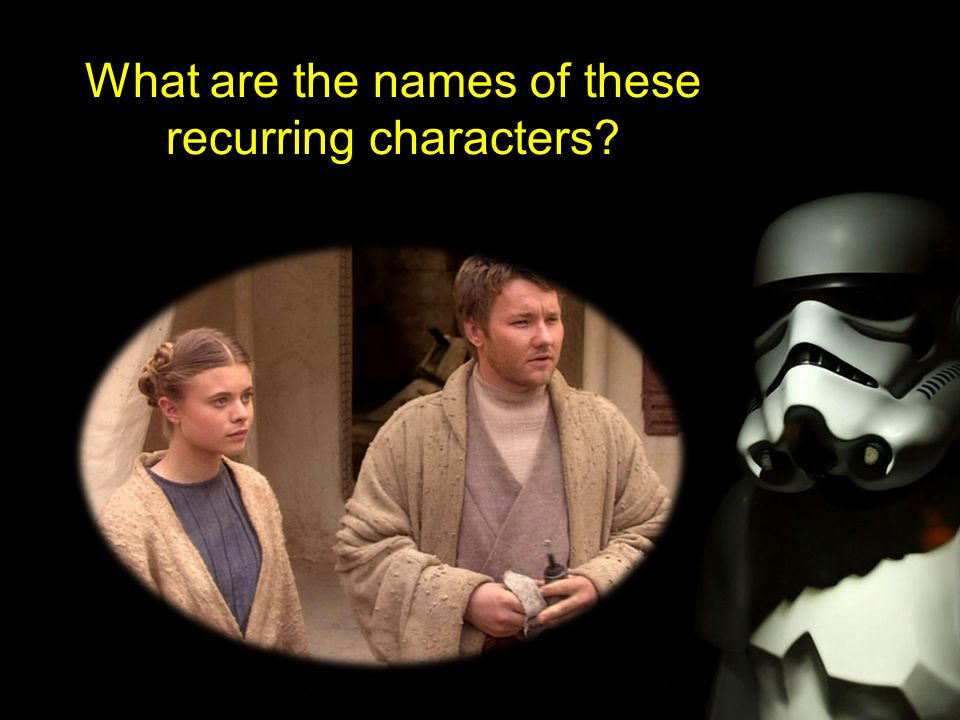 What are the names of these recurring characters
