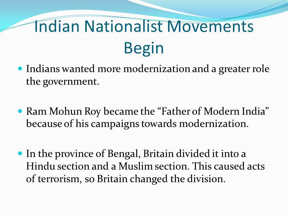 Indian Nationalist Movements Begin