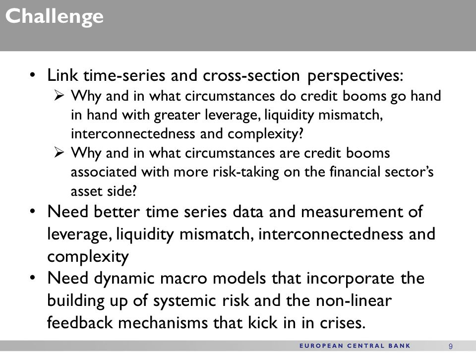 Challenge Link time-series and cross-section perspectives: