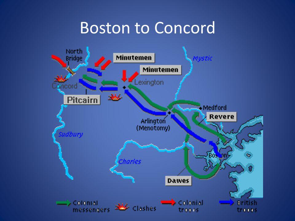Boston to Concord