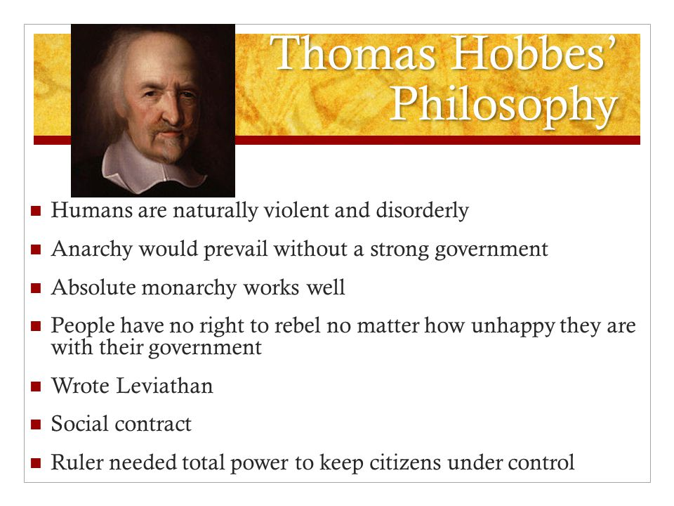Thomas Hobbes' Philosophy