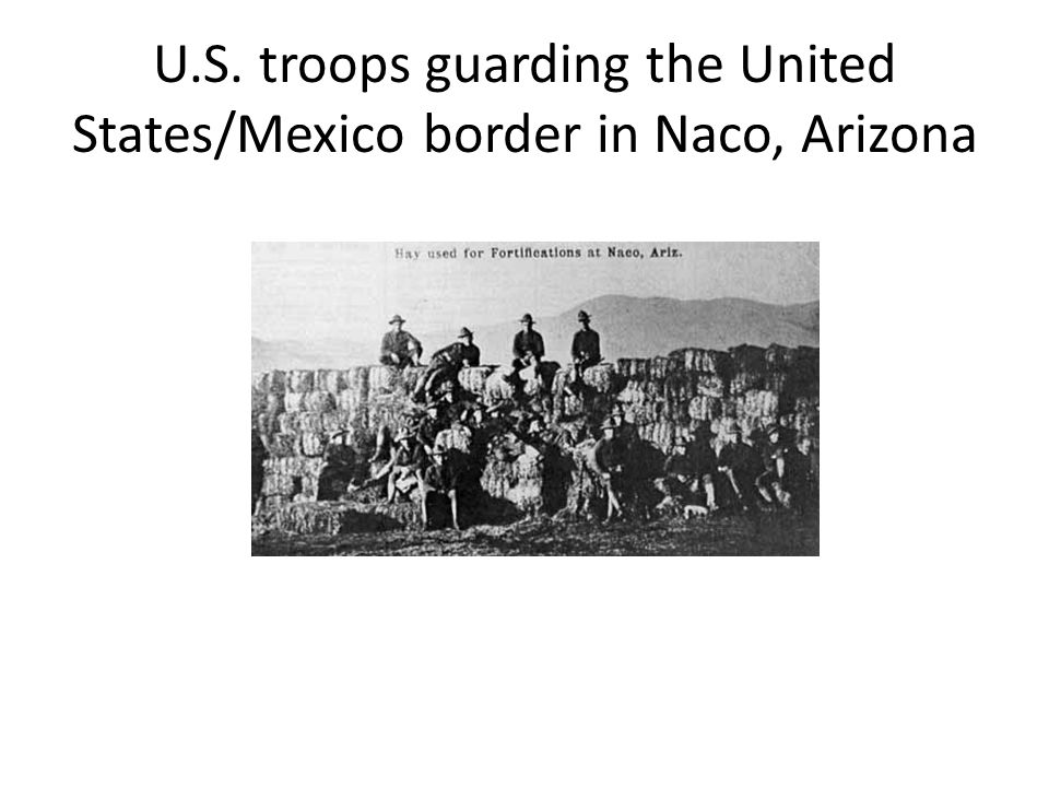 U.S. troops guarding the United States/Mexico border in Naco, Arizona