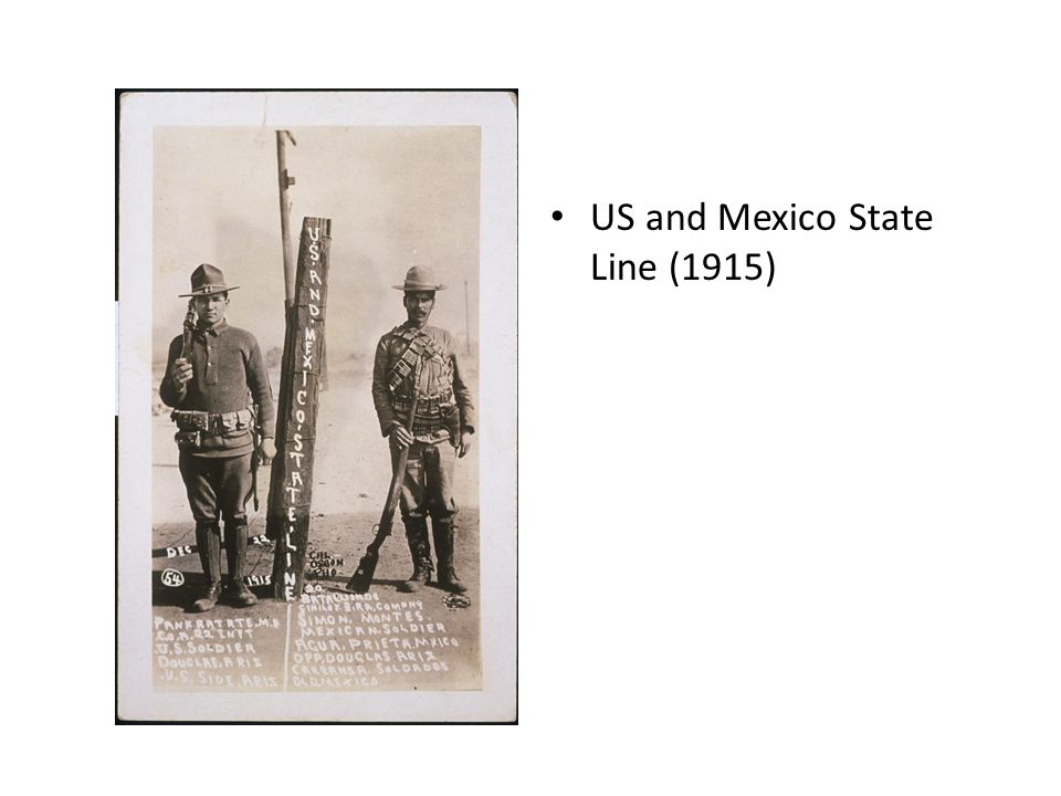 US and Mexico State Line (1915)