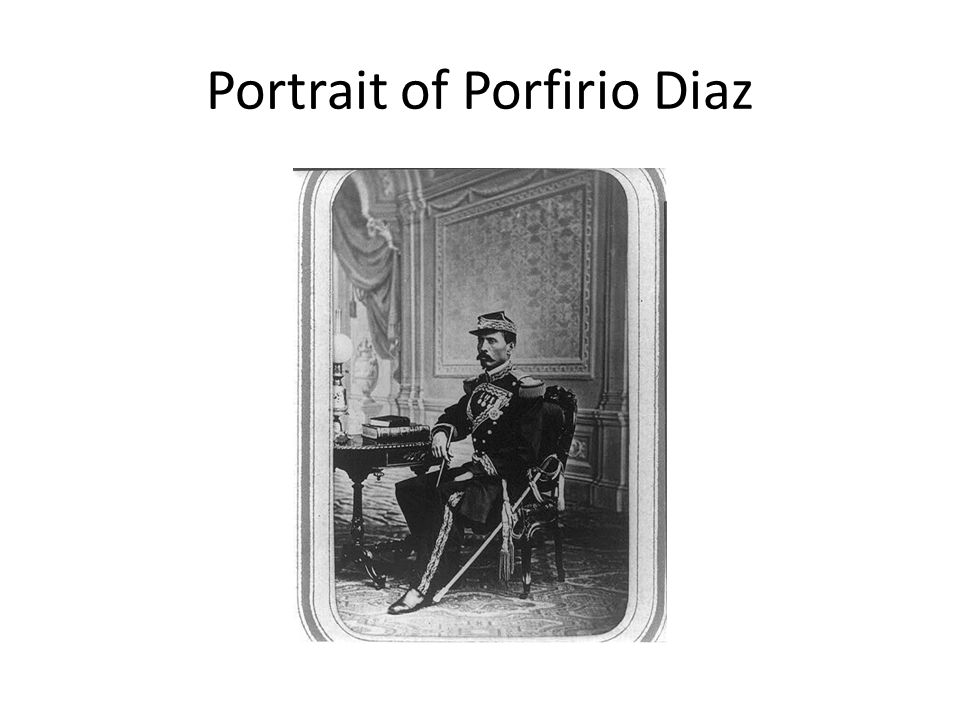Portrait of Porfirio Diaz