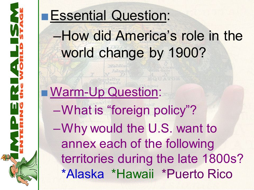 How did America's role in the world change by 1900