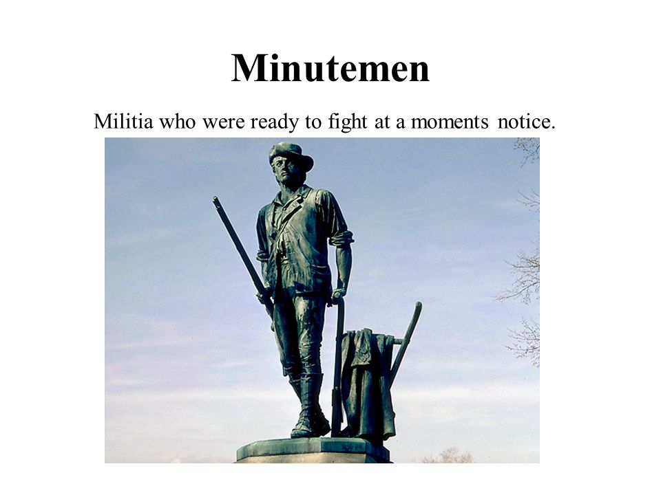 Militia who were ready to fight at a moments notice.