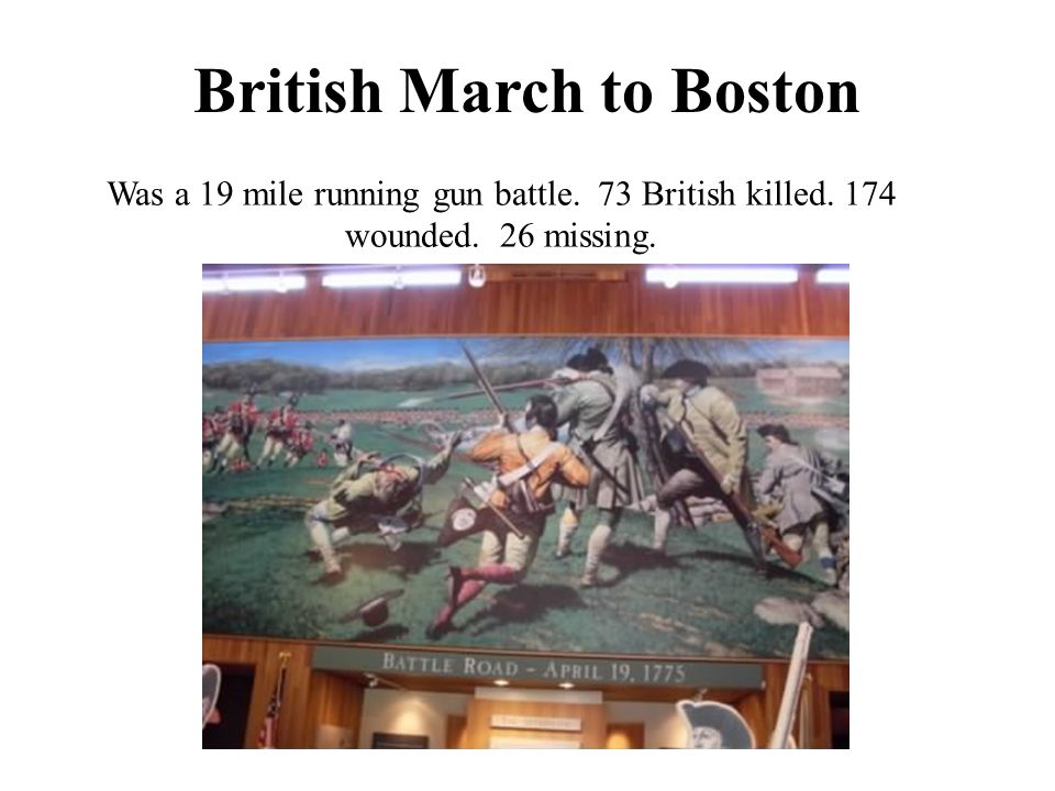 British March to Boston
