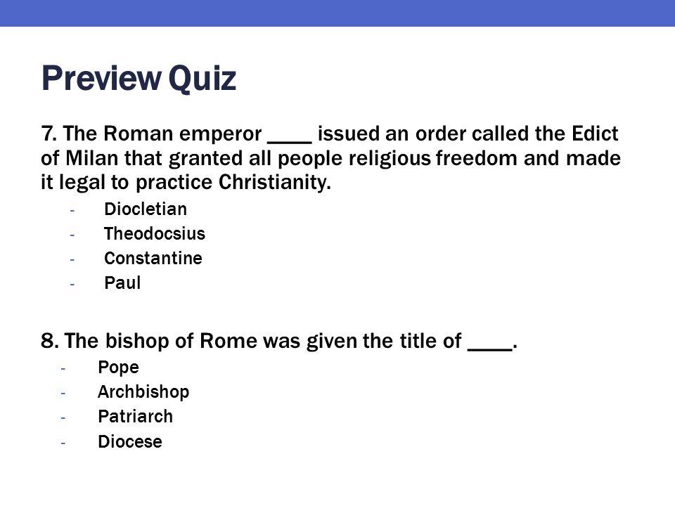 Preview Quiz