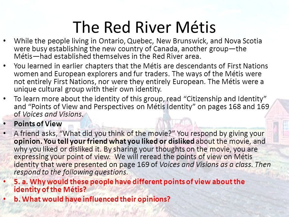 The Red River Métis