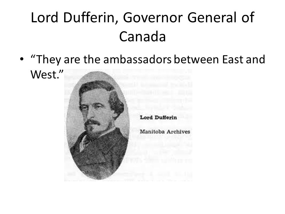 Lord Dufferin, Governor General of Canada