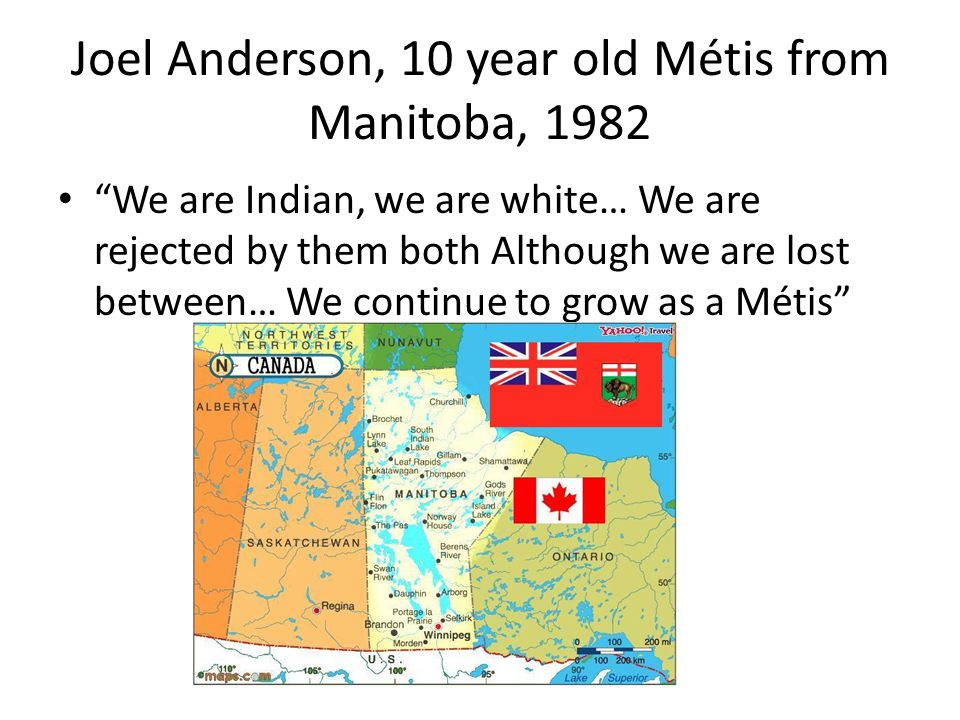 Joel Anderson, 10 year old Métis from Manitoba, 1982