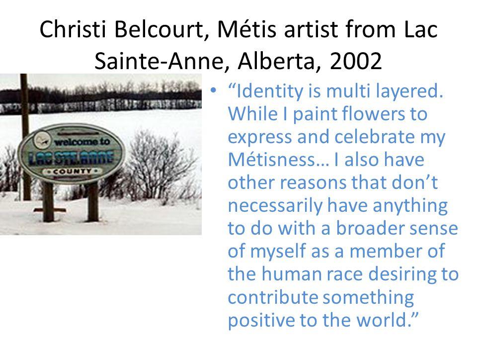 Christi Belcourt, Métis artist from Lac Sainte-Anne, Alberta, 2002