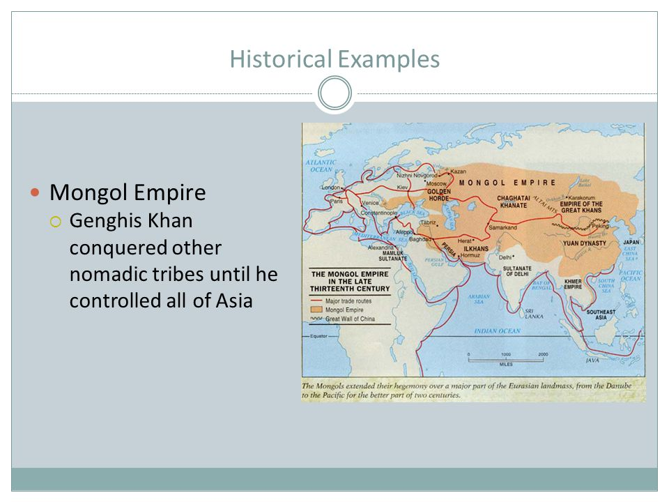 Historical Examples Mongol Empire