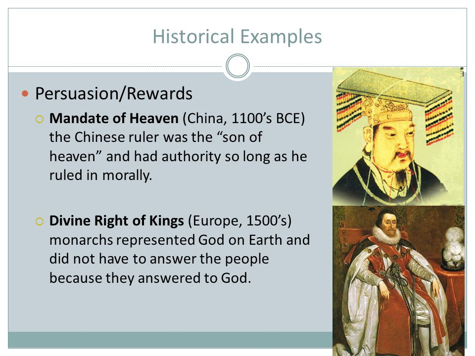Historical Examples Persuasion/Rewards