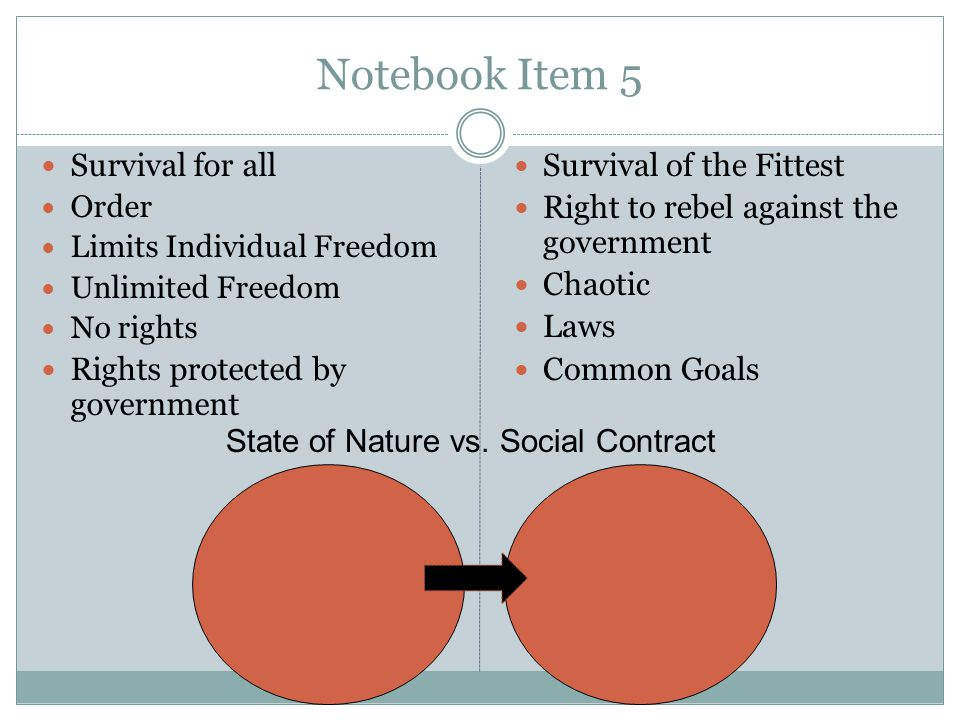 Notebook Item 5 Survival for all Rights protected by government
