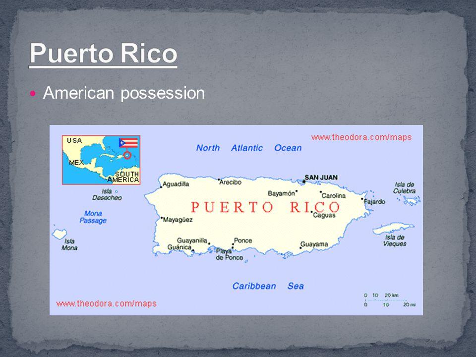 Puerto Rico American possession