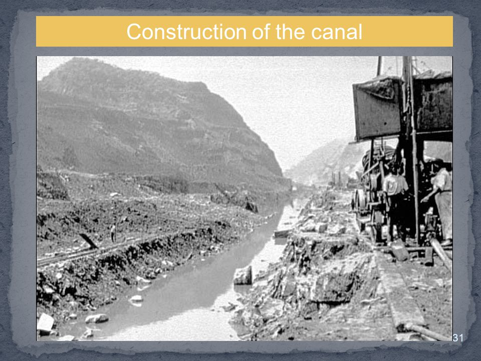 Construction of the canal