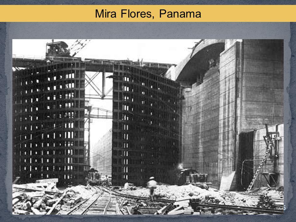 Mira Flores, Panama The doors lock the canal.