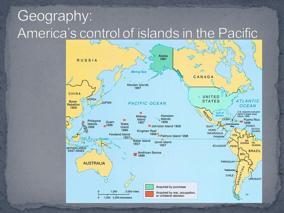 Geography: America's control of islands in the Pacific