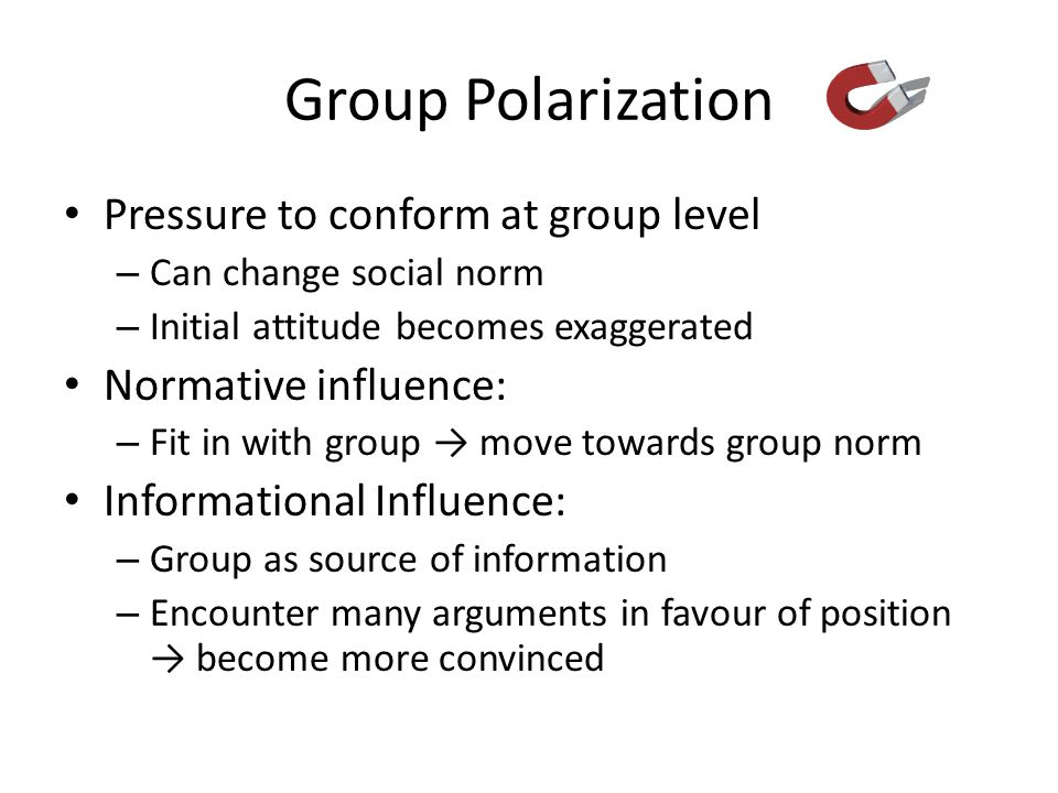 Group Polarization Pressure to conform at group level