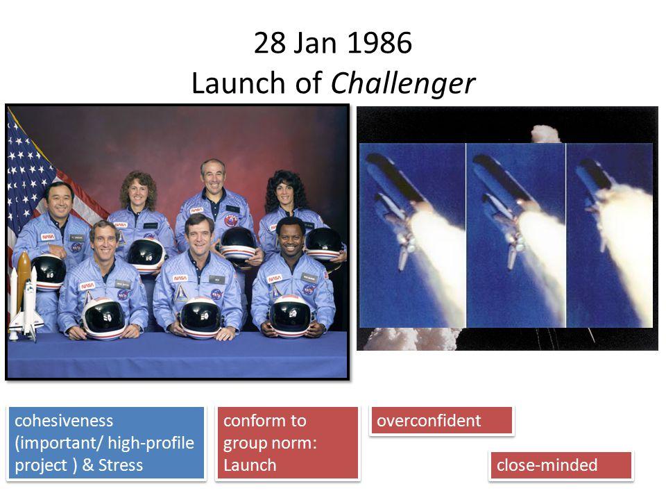 28 Jan 1986 Launch of Challenger