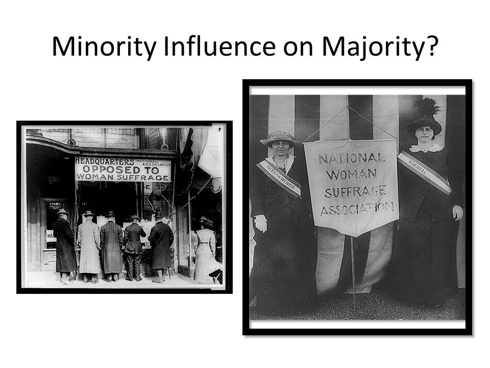 Minority Influence on Majority