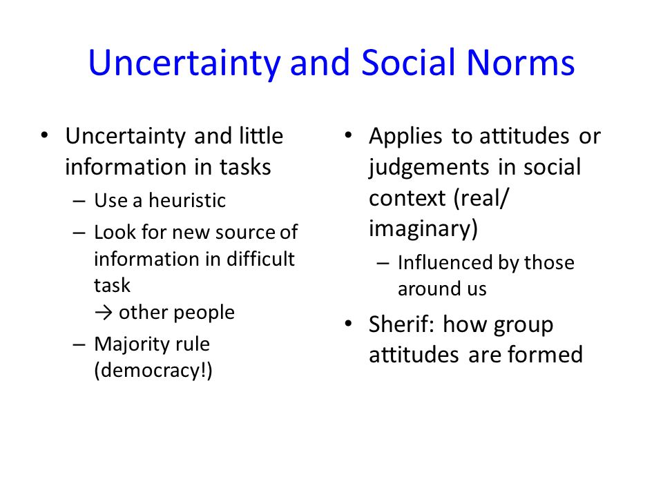 Uncertainty and Social Norms