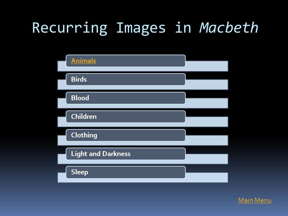 Recurring Images in Macbeth