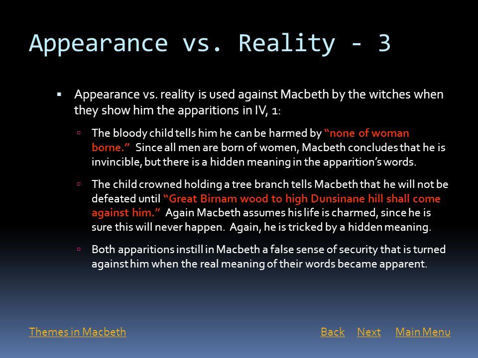 Appearance vs. Reality - 3