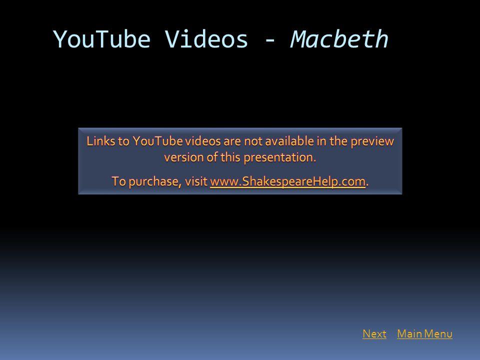 YouTube Videos - Macbeth