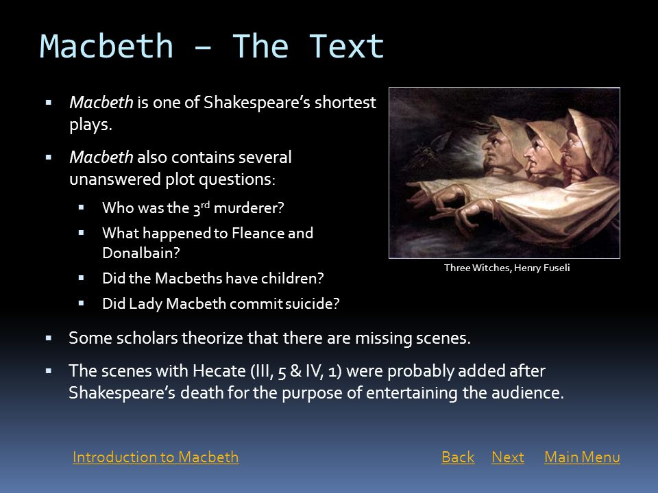 macbeth the last of william shakespeares tragedies Analysis of macbeth by william shakespeare based on macbeth and romeo and juliet in tragedies  the last is act four, in act four macbeth is.