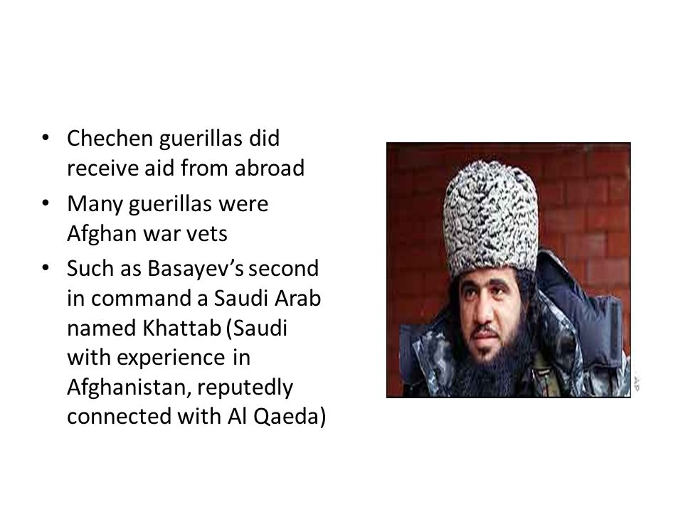 Chechen guerillas did receive aid from abroad