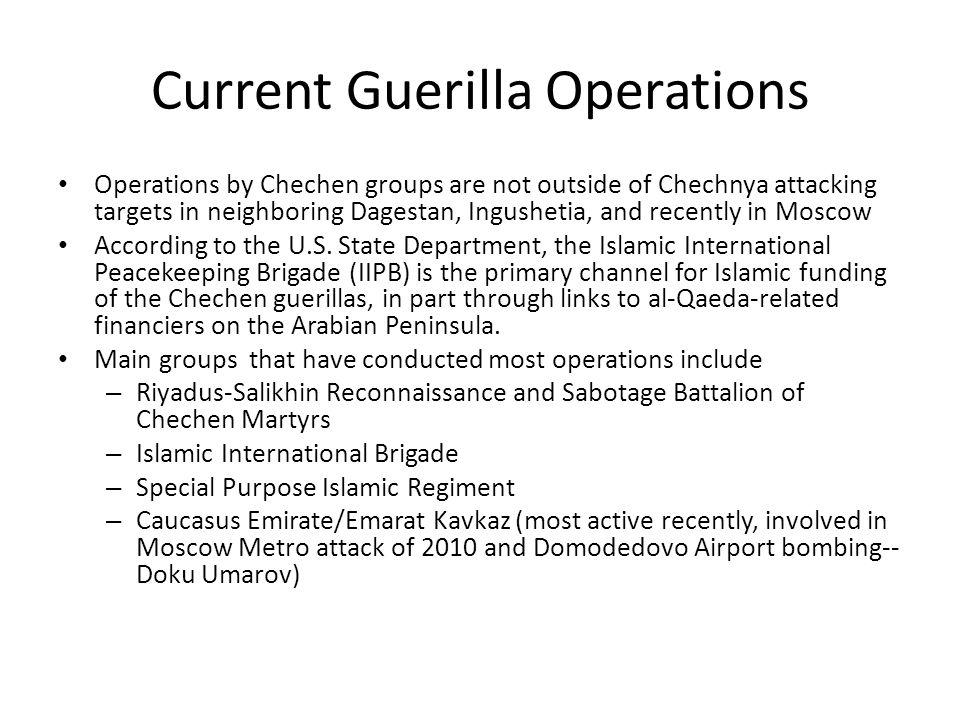 Current Guerilla Operations
