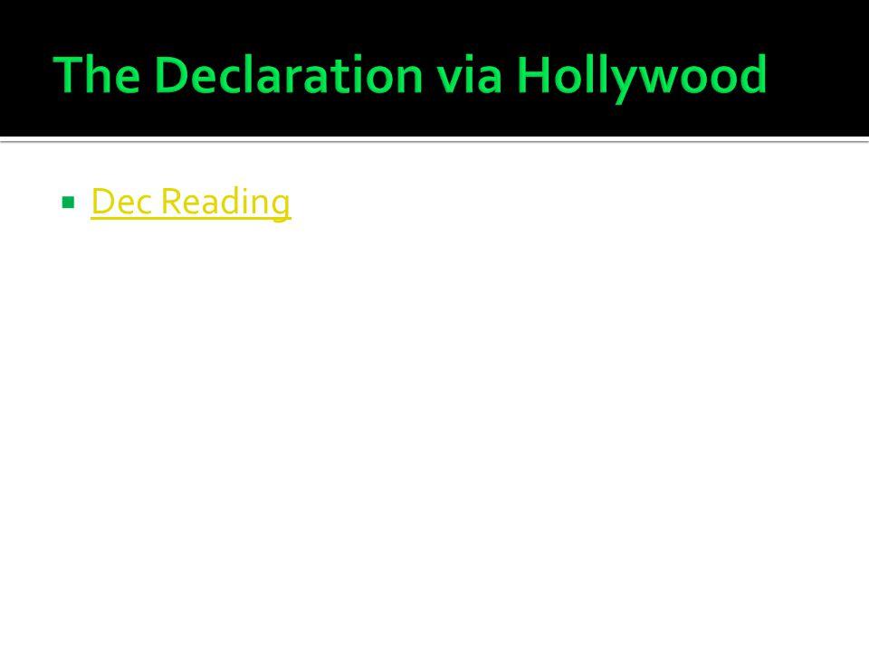 The Declaration via Hollywood
