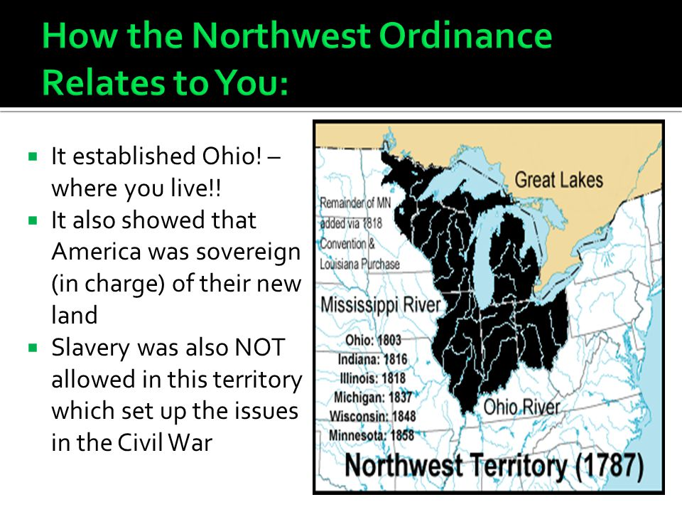 How the Northwest Ordinance Relates to You: