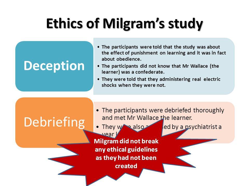 Ethics of Milgram's study