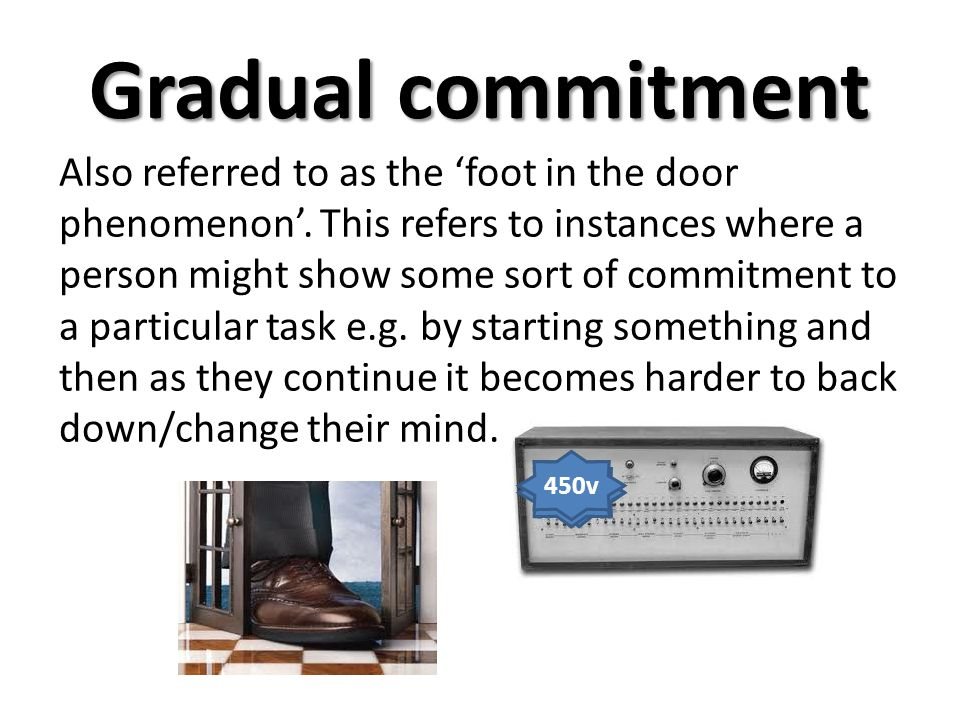Gradual commitment