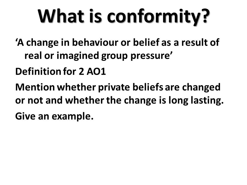 What is conformity