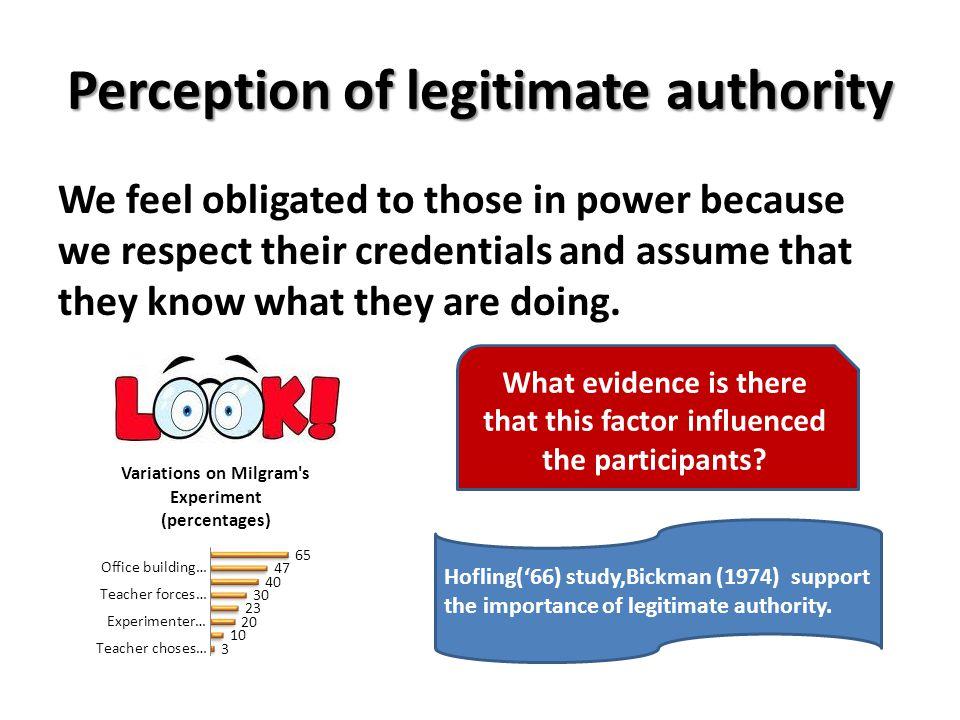 Perception of legitimate authority