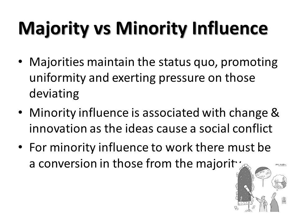 Majority vs Minority Influence