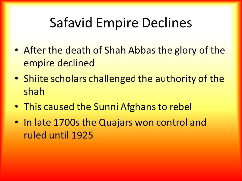 Safavid Empire Declines