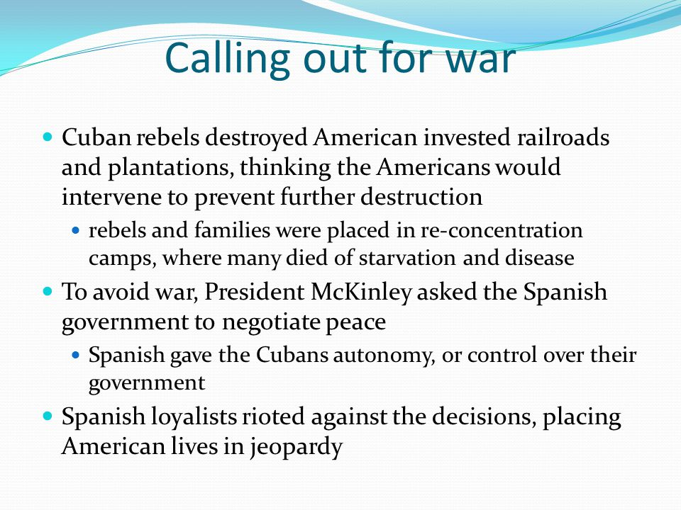Calling out for war