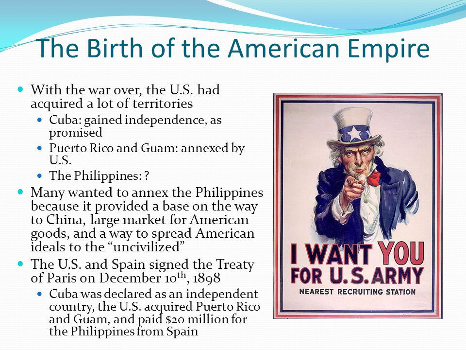 The Birth of the American Empire