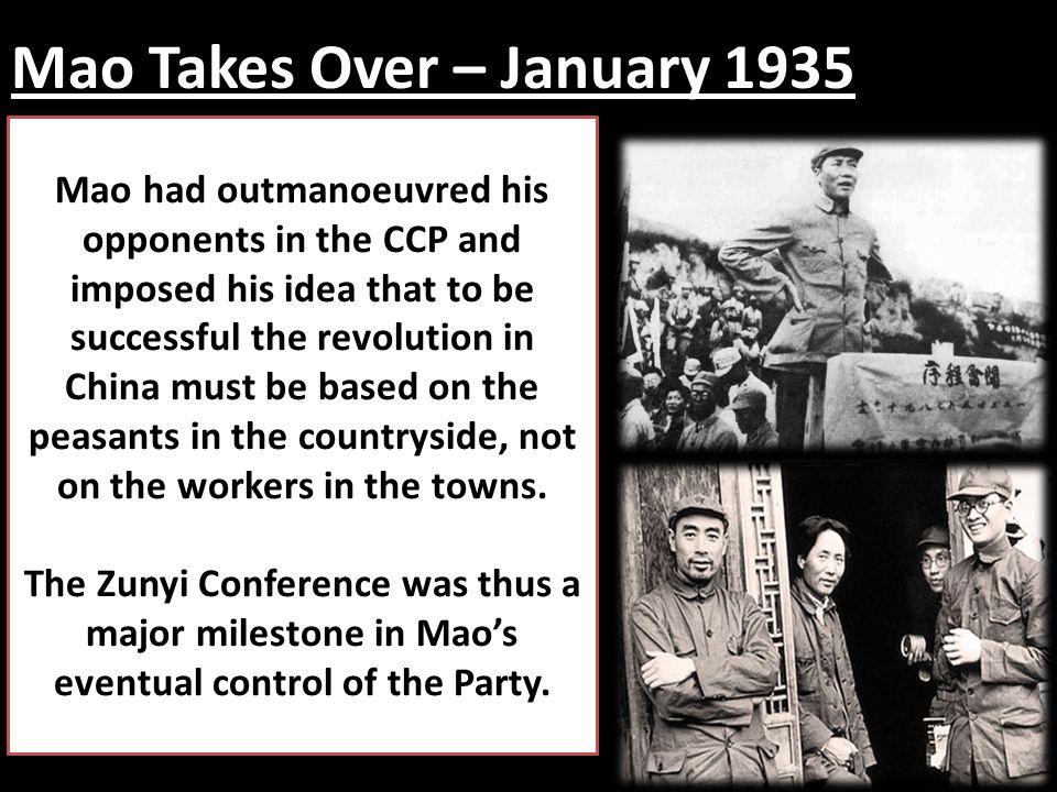 Mao Takes Over – January 1935